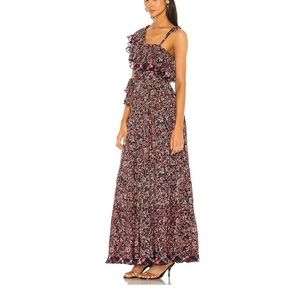 NWT Free People What About Love Maxi Ruffle Boho One Shoulder Dress
